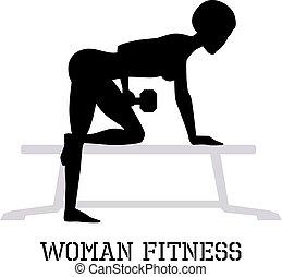 Woman fitness illustration