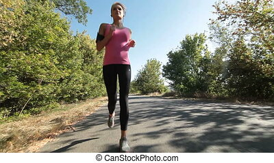 Woman fitness jogging workout