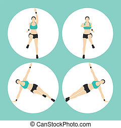 Woman Fitness Vector