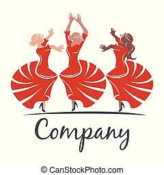 woman flamenco logo