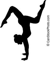 Woman floor exercise