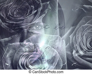 Woman Floral concept