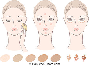woman, foundation and concealer - Beautiful woman and how to...