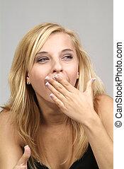 woman gapes