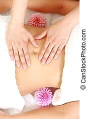 abdomen massage - woman getting an abdomen massage