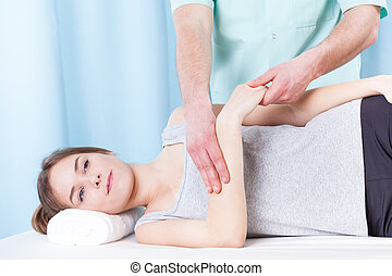 Woman getting arm massage