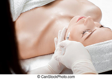woman getting injection