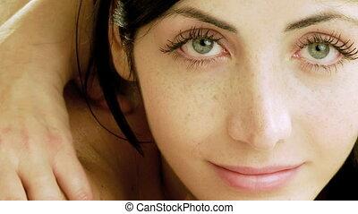Woman getting massage edited sequen