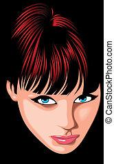 ), (woman, gezicht, fantasie, meisje, mijn, aardig