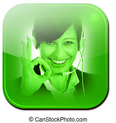 woman gives ok sign APP
