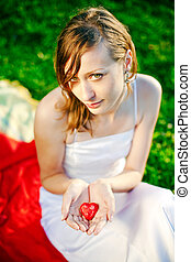 Woman Giving Her Heart