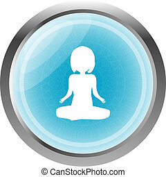woman glossy web icon on white background