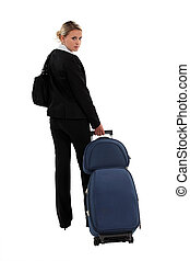 woman going on a professional trip
