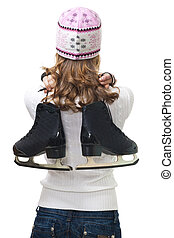 Woman going to skate