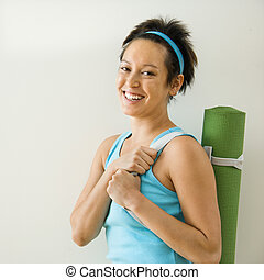 Woman going to workout