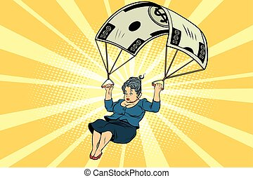 woman Golden parachute financial compensation in the business