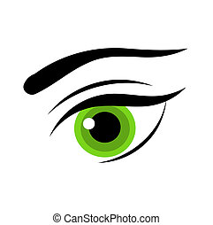 Woman green eye - Beautiful green woman eye. Vector...