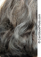 Woman grey hair - old woman grey hair outdoor