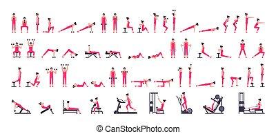 Woman gym set
