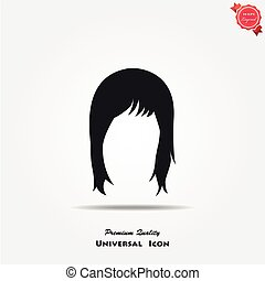 Woman hair style icon