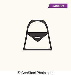 Woman hand bag, parcel icon.