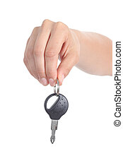 Woman hand giving a car key