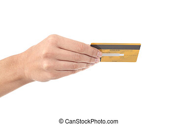 Woman hand with a credit card