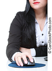 Woman hand with computer mouse
