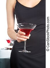 woman hand with red cocktail