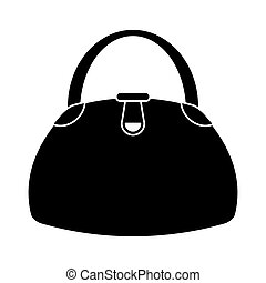 woman handbag fashion style pictogram