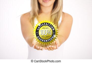 hands holding Business symbol