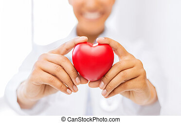 woman hands with heart