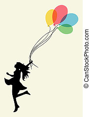 Woman happiness achievement - Happy dancing woman with...