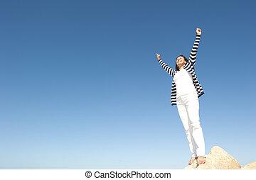 Woman Happy Active retirement