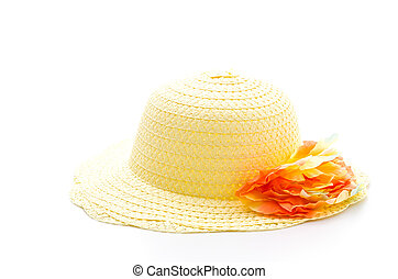 Woman hat isolated on white