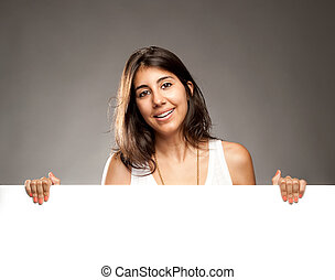 woman hatalom, egy, transzparens