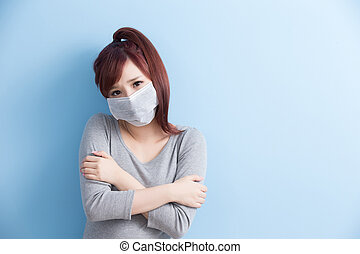woman have a sick