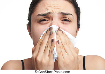 woman have flu