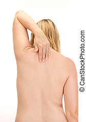Woman having a backache