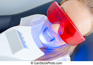 woman having a dental xray