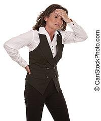 woman having a headache - business woman having a headache...