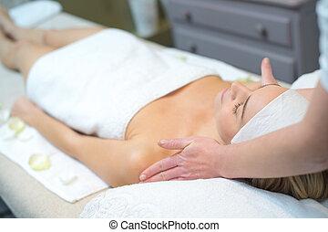woman having a relaxing massage