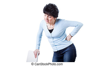 Woman having backache