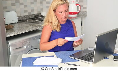 Woman having financial troubles