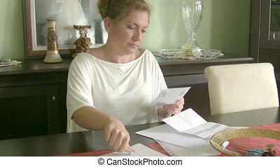 Woman having financial troubles