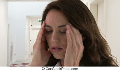 Woman having headache  - Woman having headache