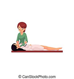Woman having laser facial hair removal procedure -...