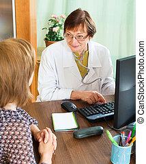 woman having medical consultation  at  office