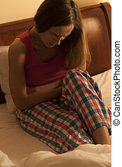 Woman having menstrual pain