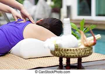 Woman having Relaxing Massage